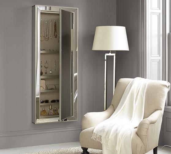 Park Mirrored Jewelry Closet | Jewelry closet, Dream ...