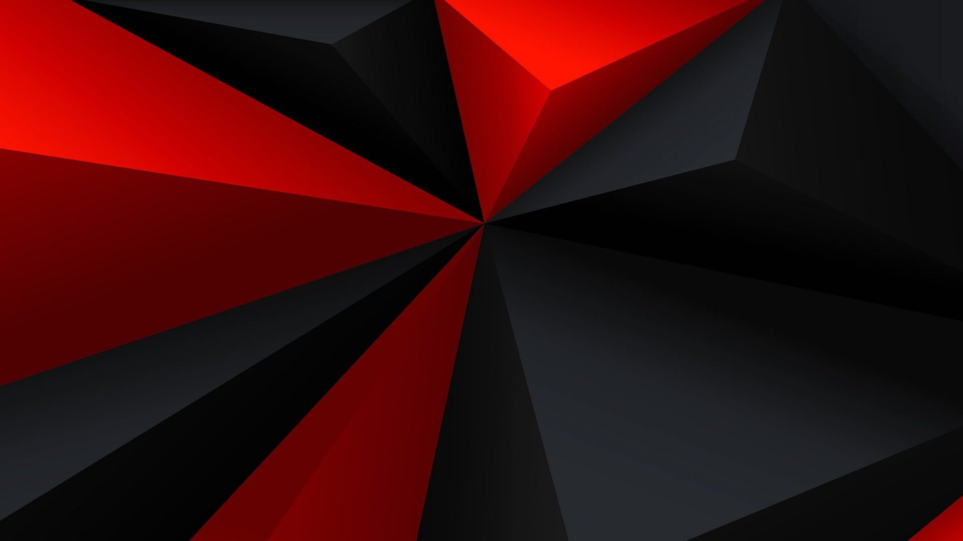 Red And Black 3d Wallpaper Digital Art Minimalism Low Poly Geometry Triangle Red Black G Red And Black Wallpaper Red And Black Background Black Wallpaper