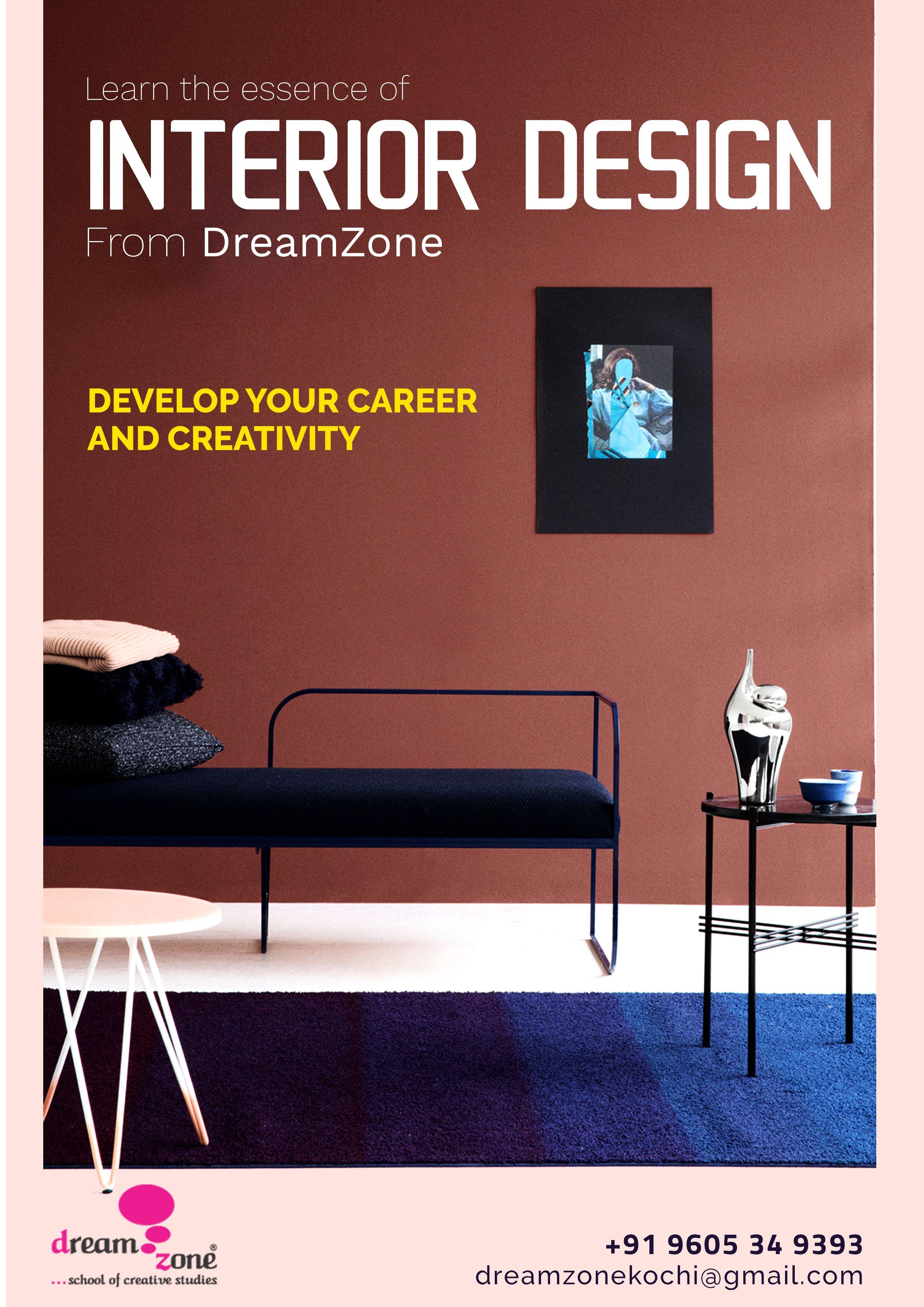Dreamzone Is A Creative Skill Development Initiative Of Cadd Centre Training Services Privat Design Course Interior Design Courses Diploma In Fashion Designing