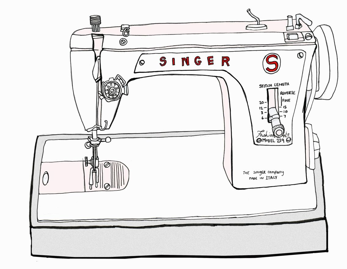 sewing machine drawing