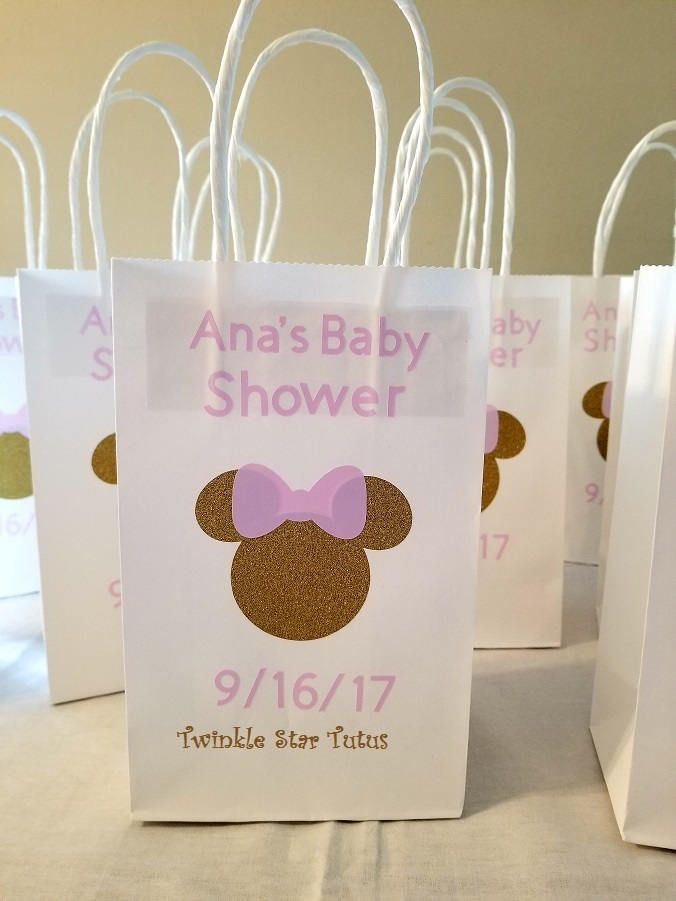 Personalized Minnie Mouse Favor Bags Party Favor Bags Baby Shower