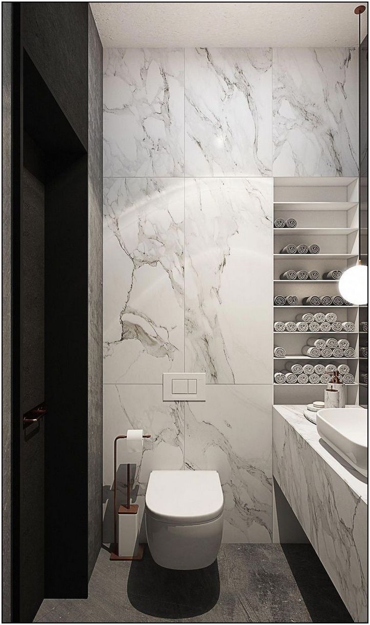 162 Ultra Modern Master Bathroom Ideas To Inspire Your Next Renovation Page 44 Homydepot Modern Marble Bathroom Trendy Bathroom Designs Bathroom Design Small