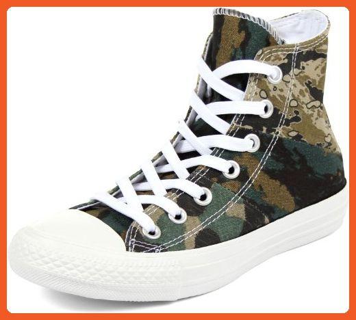 4a0161c1c40a Converse Unisex Chuck Taylor  All Star  Tri-Panel Camo Hi Khaki Palm  Green Privet CM Sneaker Men s 9.5