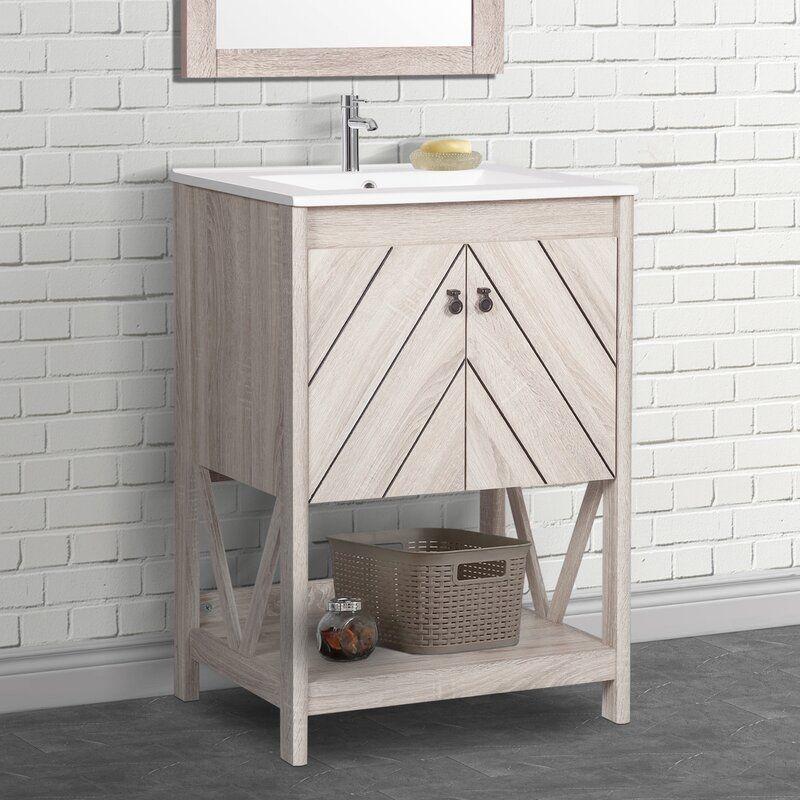 24 Single Bathroom Vanity Set In 2020 Single Bathroom Vanity 24 Inch Bathroom Vanity Bathroom Vanity