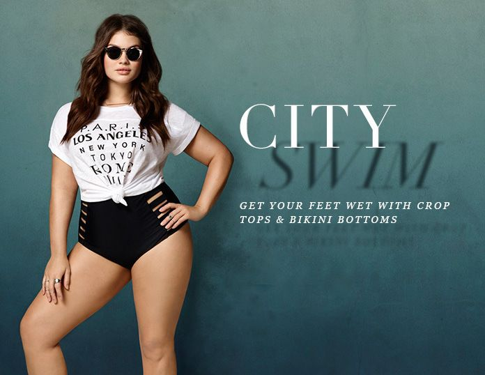 37f4ff8331513 Forever 21 Plus Size City Swim Look Book