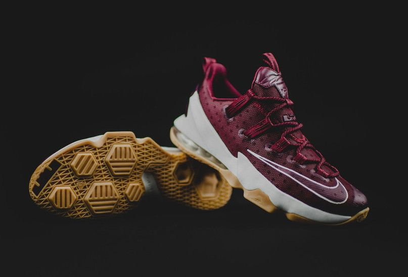 The Nike LeBron 13 Low in the Cavs colorway is now available at select  retailers for