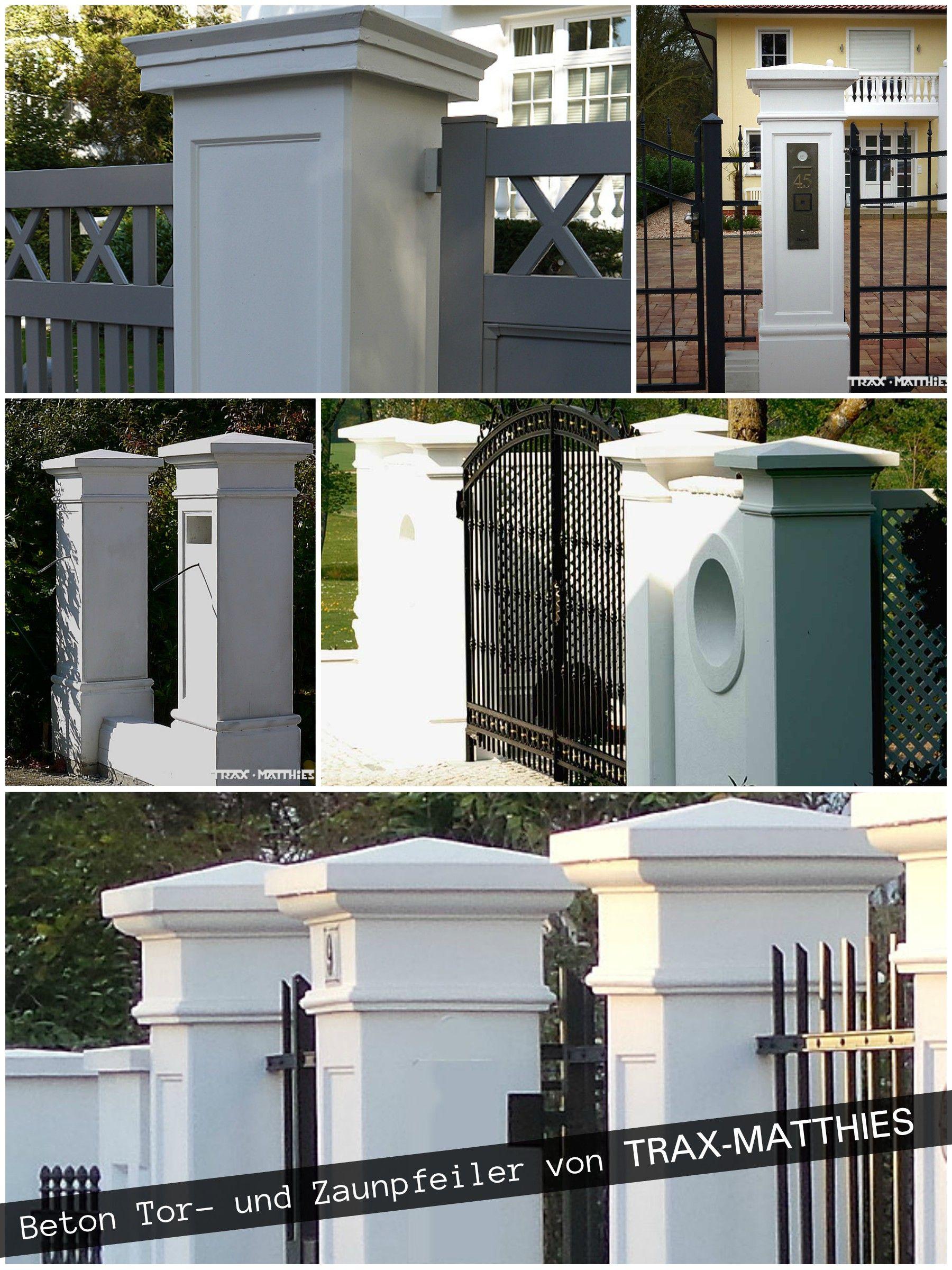 klassisch elegante Pfeiler für Ihren Gartenzaun und