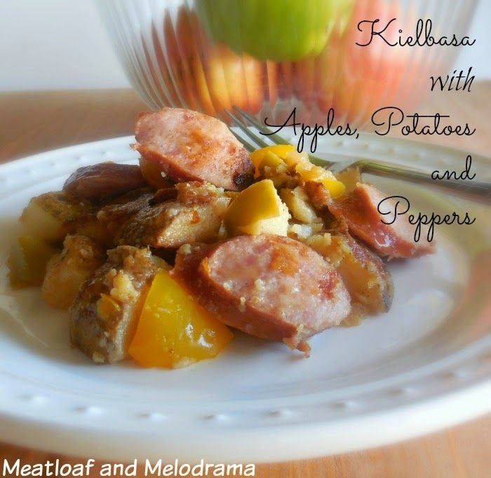 #sponsored Kielbasa with Apples, Potatoes and Peppers #BringHillshireHome