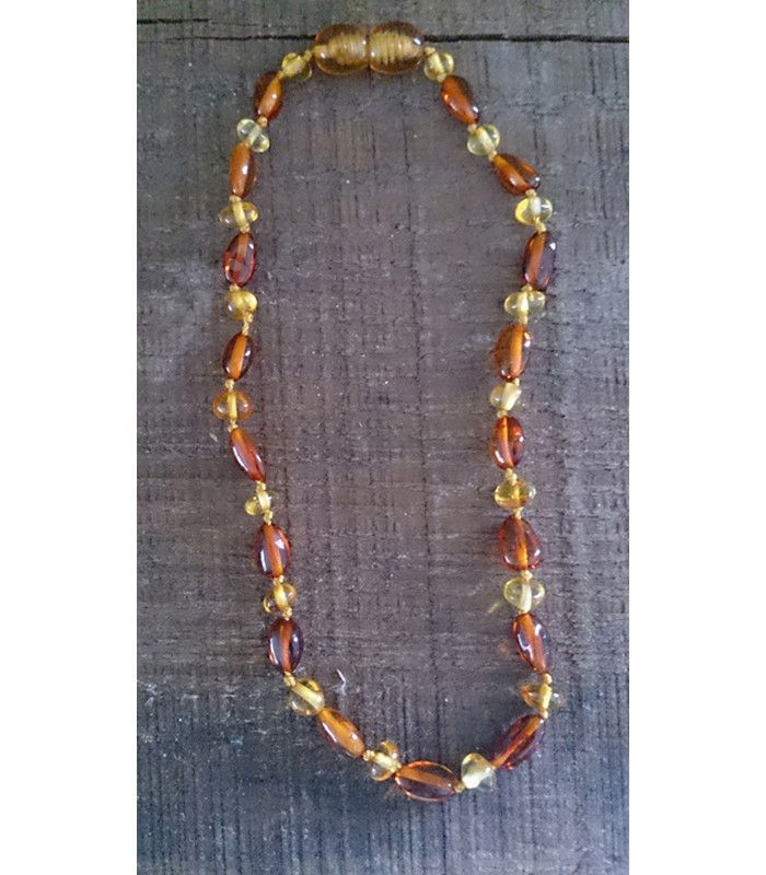 Caramel/Gold Amber Teething Necklace