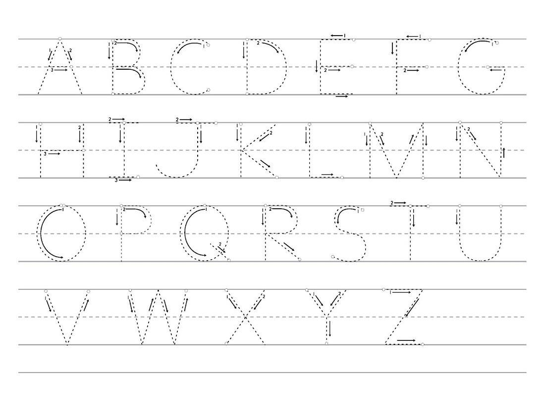 Abc Tracing Pages Printable In