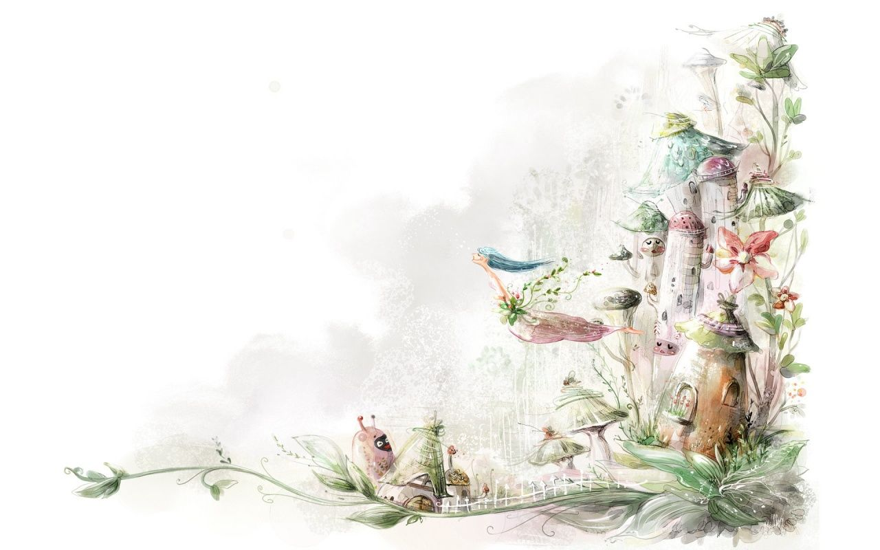 1280x800 Fairy Tale Drawing Desktop Wallpapers And Stock Photos Painting Fairytale Drawings Cartoon Wallpaper