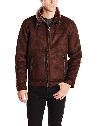 Men's Aviator Faux Fur Jacket