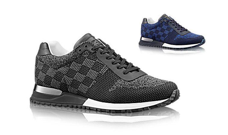 New Louis Vuitton Run Away Damier Textile Sneaker Fall 2015