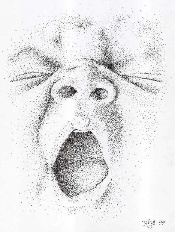 Retrato de un beb realizado con lpiz  TECNICAS DE EXPRESION 1