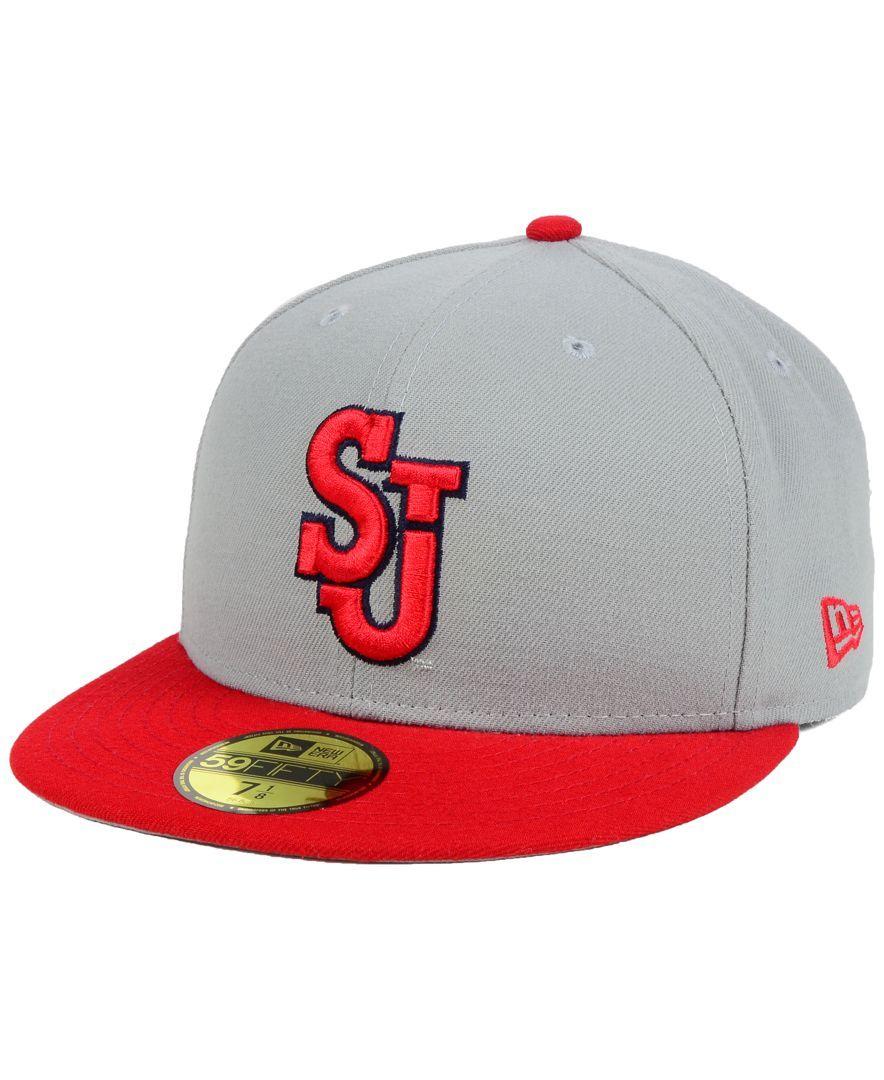 wholesale dealer ccf43 9e83d New Era St Johns Red Storm Grayson 59FIFTY Cap
