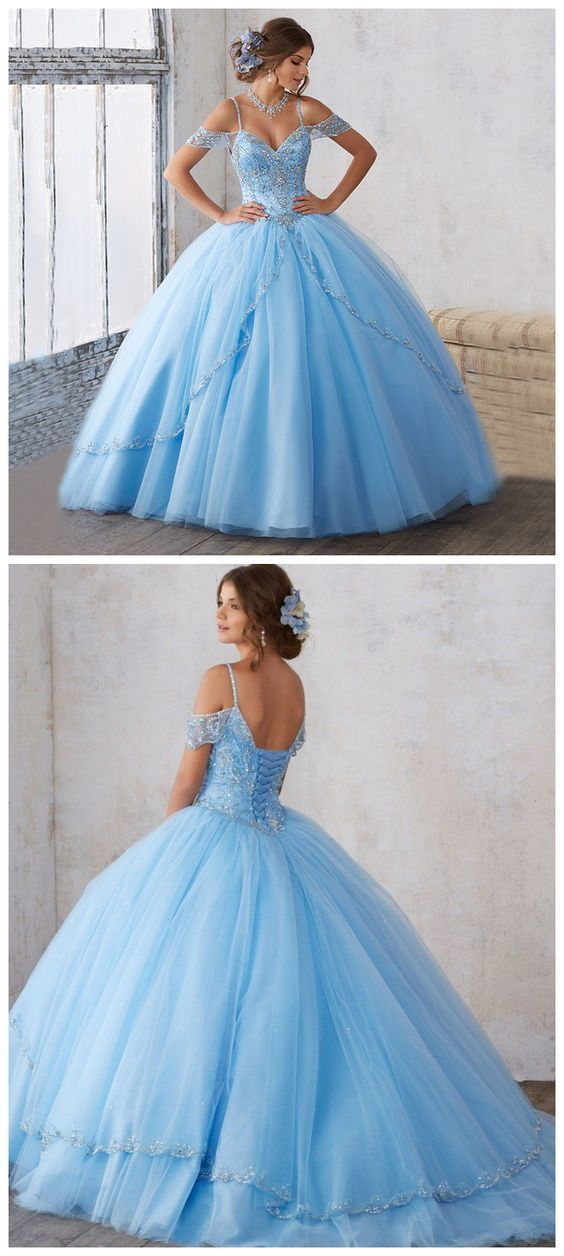 Off The Shoulder Tulle Sweet 16 Dresses Ball Gowns Wedding Dress quinceanera dresses