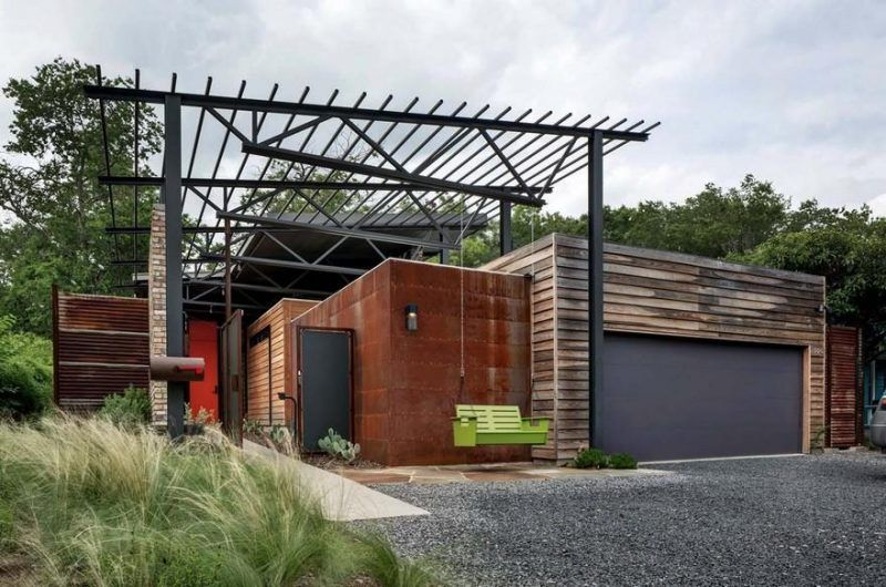 Bonita Residence By Domiteaux Baggett Architects Industrial House Vintage Industrial Decor Industrial Farmhouse