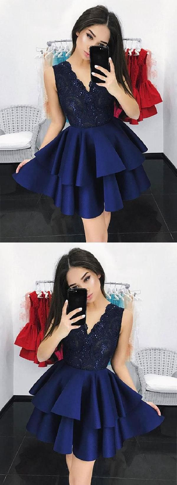 Outlet luscious lace homecoming dresses dark blue prom dresses