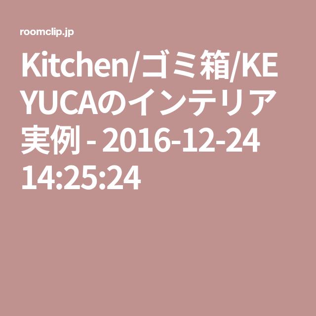 Kitchen/ゴミ箱/KEYUCAのインテリア実例 - 2016-12-24 14:25:24