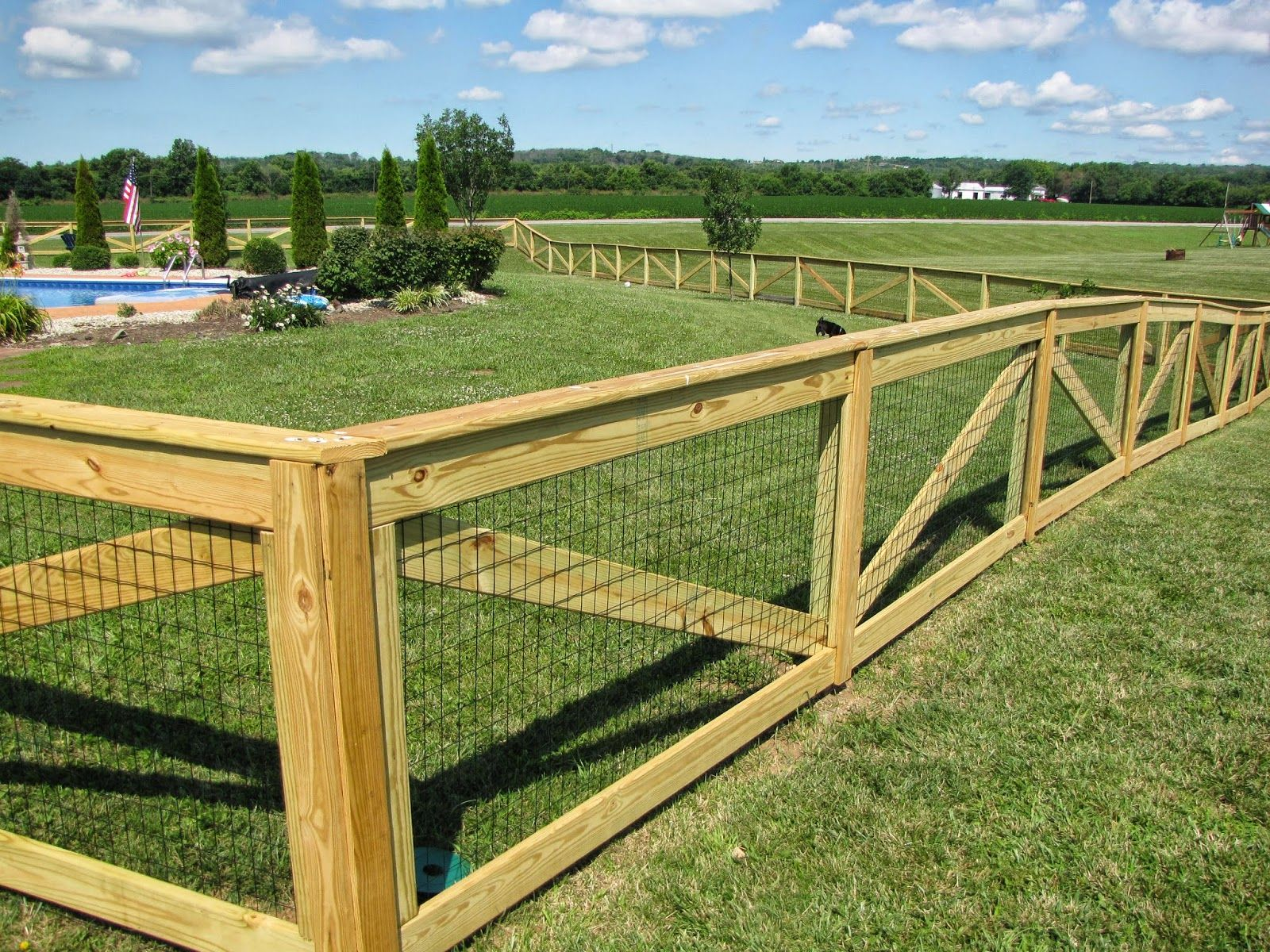 Elegant New Diy Dog Fence : DIY Dog Fence In The Yard U2013 Design And Ideas .