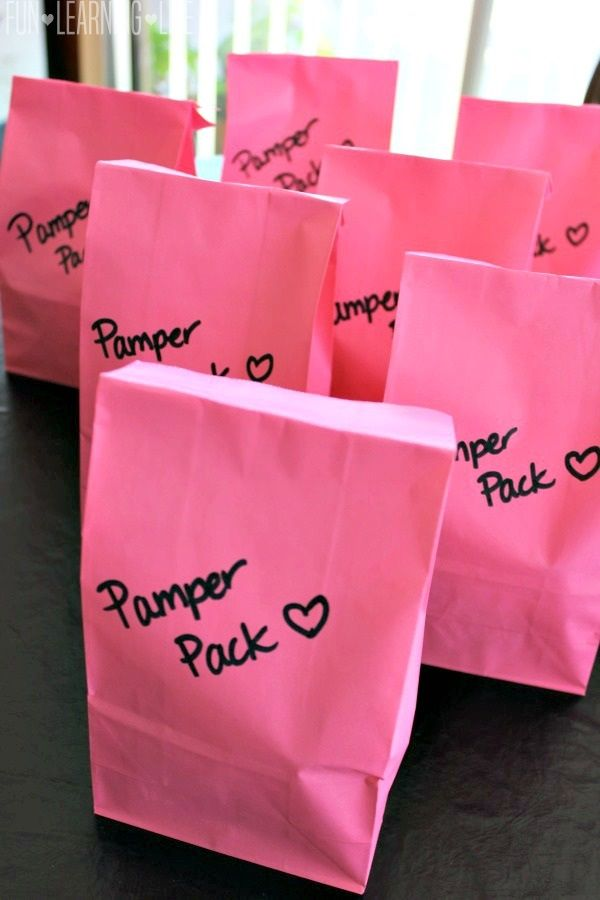 Pamper Pack Gift Bags Created for a Mom's Night In, Plus Great Idea for Teacher's Gifts! - Fun Learning Life
