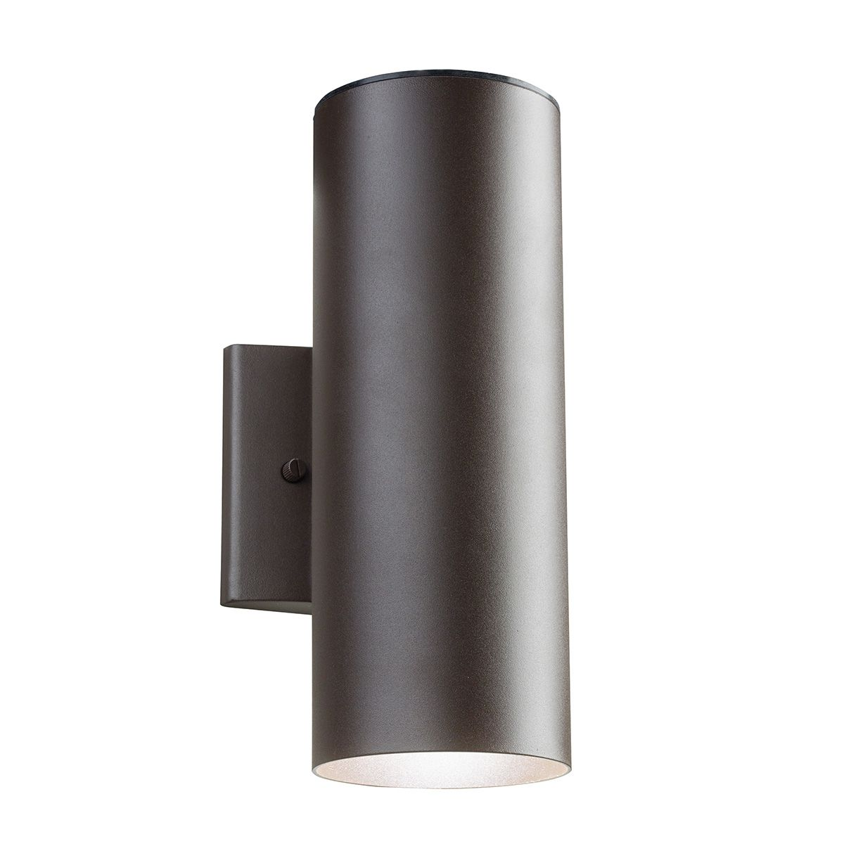 11251 Outdoor LED Up/Down Wall Sconce features a cylinder with up and down light used to highlight architectural surfaces. Made of cast aluminum with powder coat finish in Textured Architectural Bronze or Textured Black finish and polycarbonate top shield. Includes one 5 watt LED uplight and one 10 watt LED downlight totaling 15 watts with Pure White 3000K, 905CRI color temperature and LED driver. 40,000 hour average lamp life. 4.5 inch width x 12.25 inch height x 6.5 inch depth. UL listed…