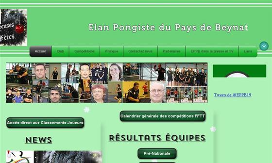 Elan Pongiste Du Pays De Beynat Club De Tennis De Table Beynat Correze Limousin Limousin Tennis De Table Correze