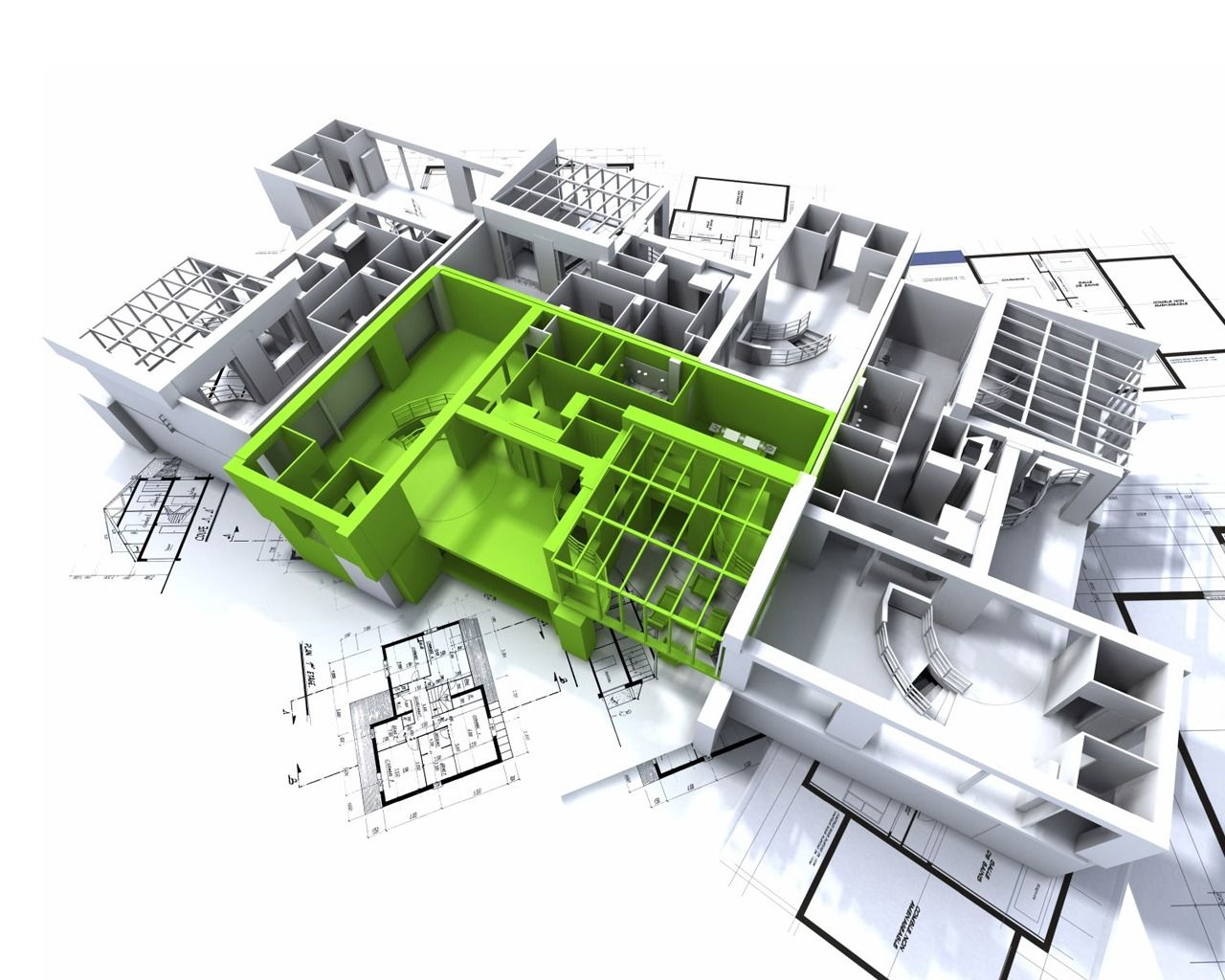 3d Models Autocad Or Actual Hand Model Helps With Visual Autocad 3d Building Design - Cad Design Firms