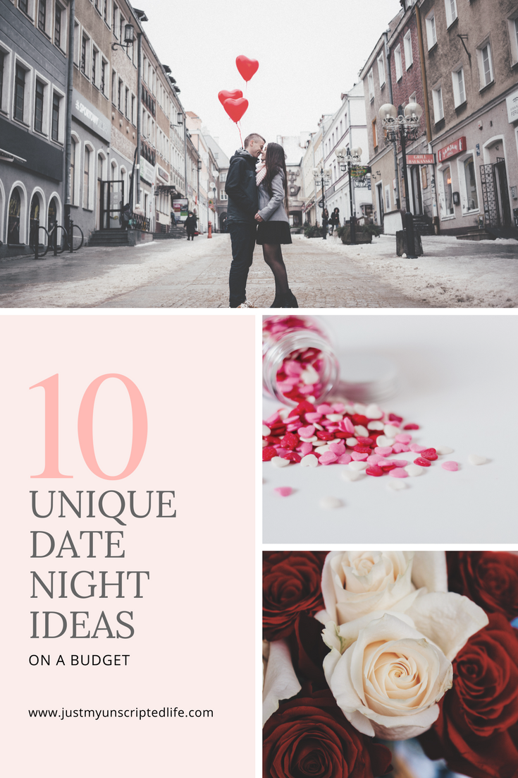 Do you have plans yet for Valentine's Day? Here are 10 unique and affordable date night ideas for you and your loved one. Great date ideas for all occasions #datenight