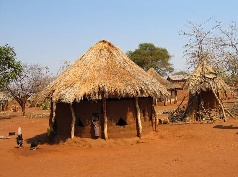 African hut, Zambia | ...