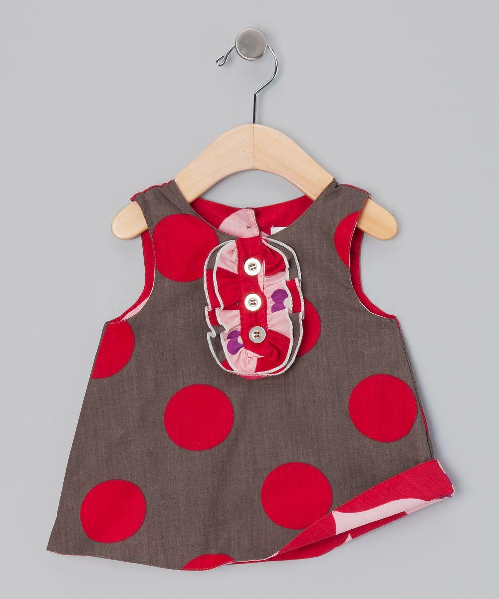 Gray & Red Reversible Tux Dress - Infant, Toddler & Girls   Baby ...