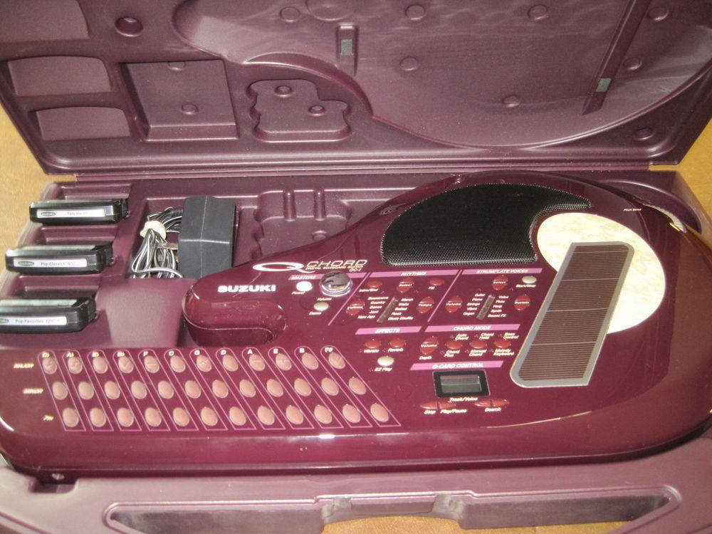 Suzuki Q Chord Model Qc1 W 3 Song Cartridges Power Adapter Case