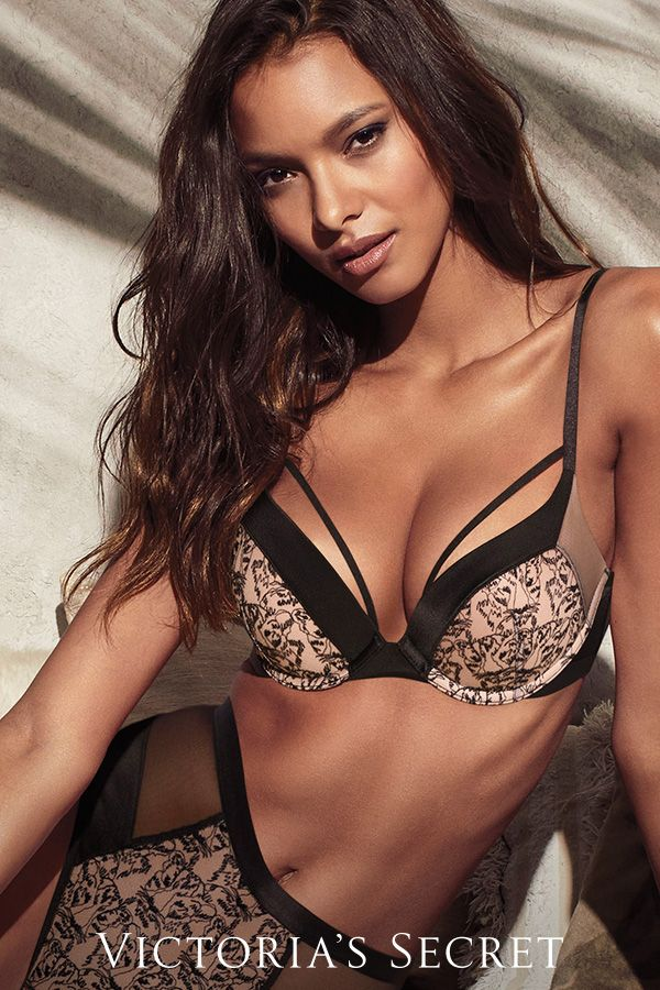 d1abc85c74 Eyes on the tiger lace push-up bra.