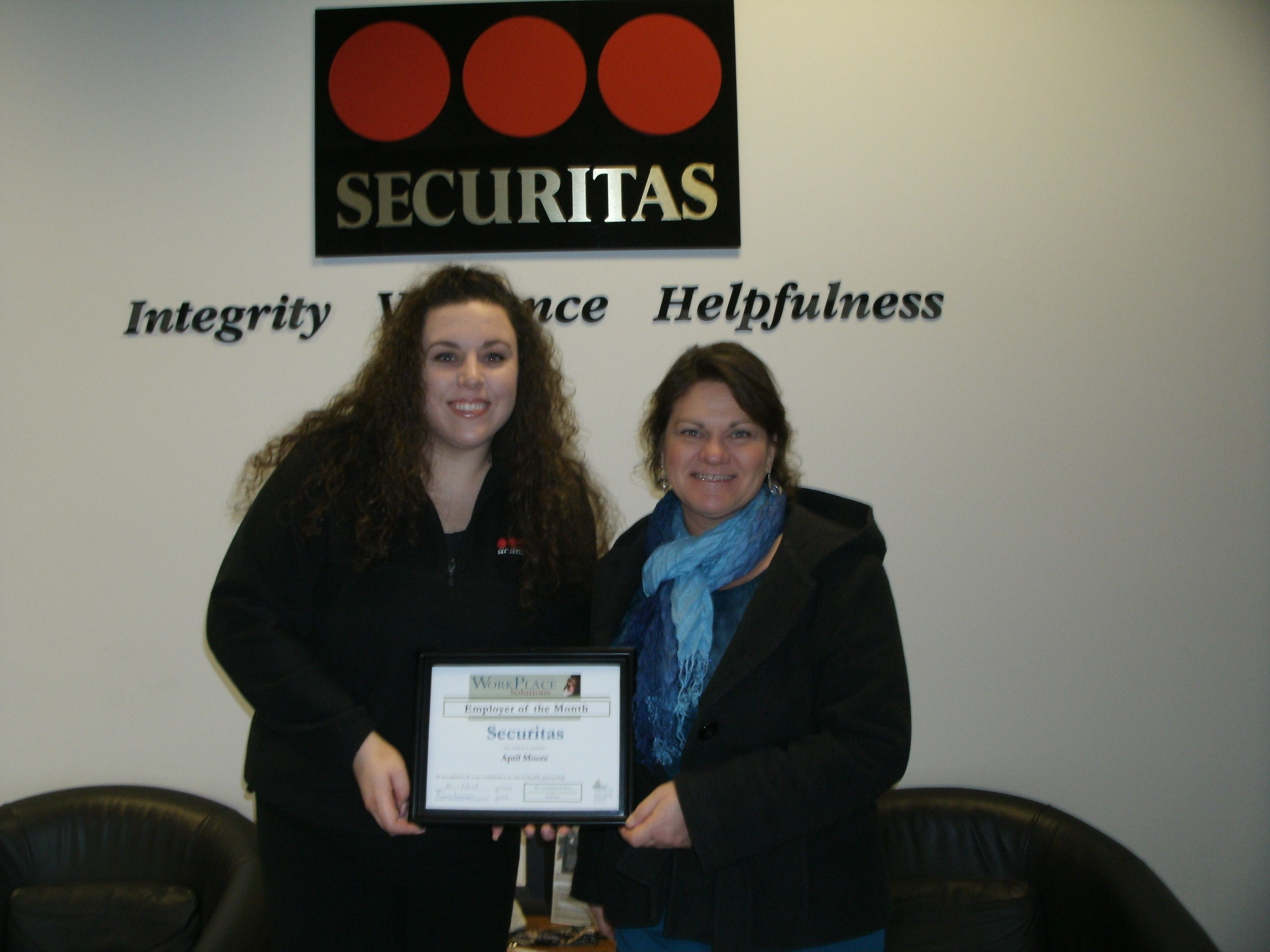 Employer of the Month Securitas Job opening, Customer