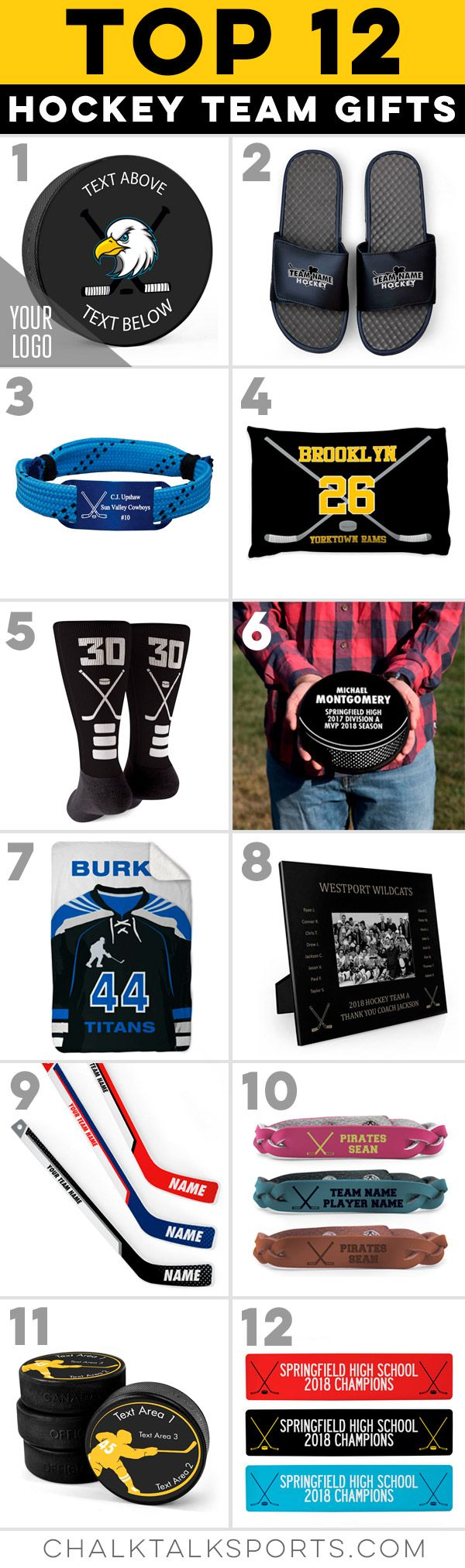 Our Top Hockey Team Gifts Are The Perfect Way To Celebrate The End Of The Season Or Any Time Of Year Hockey Team Gifts Hockey Player Gifts Hockey Teams