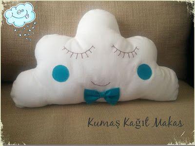 Bulut Yastık Yapımı Dikimi Cloud Pillow Kumaş Kağıt