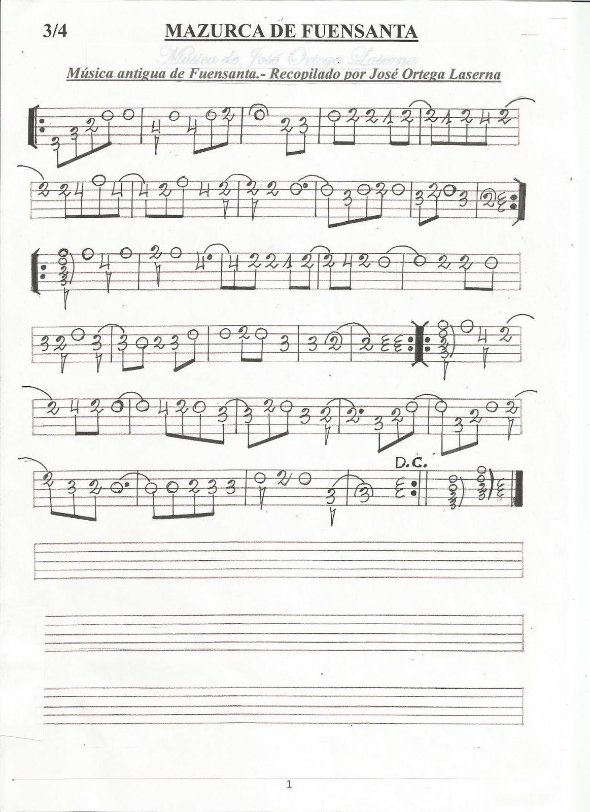 Partituras En Cifra Para Bandurria Y Laúd De José Ortega Laserna Partituras Música De Piano Guitarra Jazz