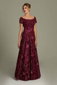 Burgundy Mothers Dresses
