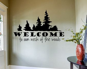 Hunting Wall Decal   Hunt   Hunting Decor   Neck Of The Woods   Rustic   Wall  Decals   Deer   Deer Decal   Deer Wall Decal   Live Laugh Love | Pinterest  ...
