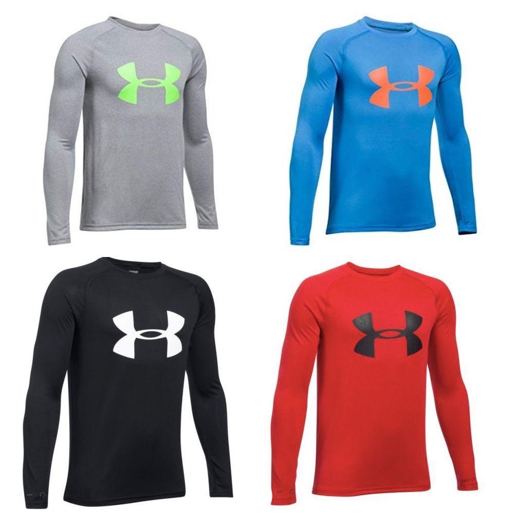 New under armour boysu big logo long sleeve shirt choose size and