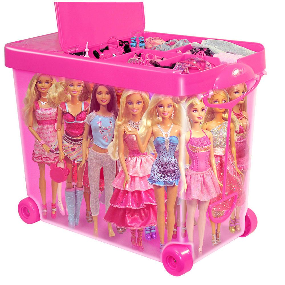Merveilleux Wow, A Durable Storage Case Designed To Fit In Your Closet Or Roll In The  House With Our Barbie Store It All Carrying Case! Lift The Handle And Wheel  The ...