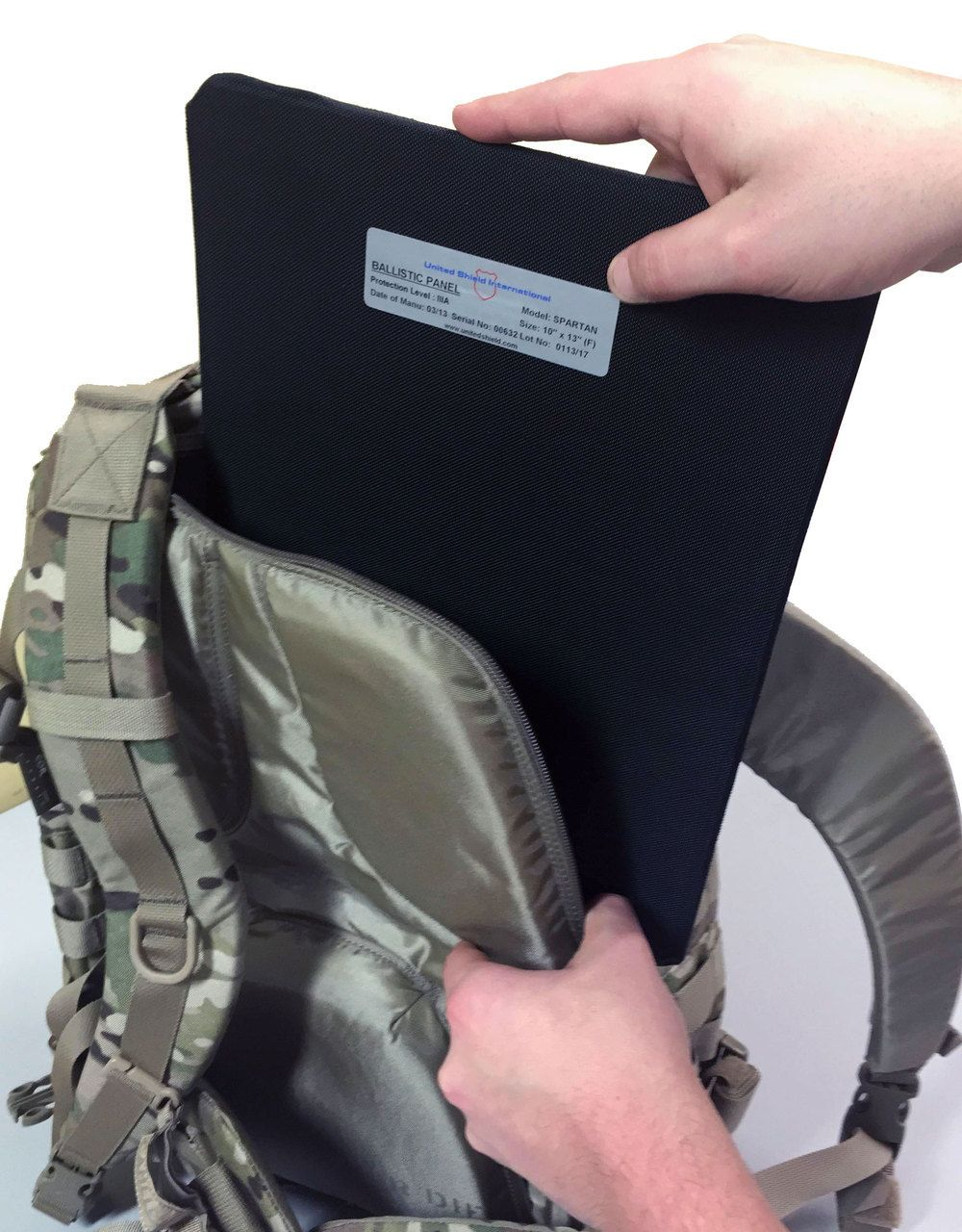 United Shield Spartan Level IIIA 10x13 Ballistic Panel Available In Curved  or Flat Style- Botach 5e65ff32d3