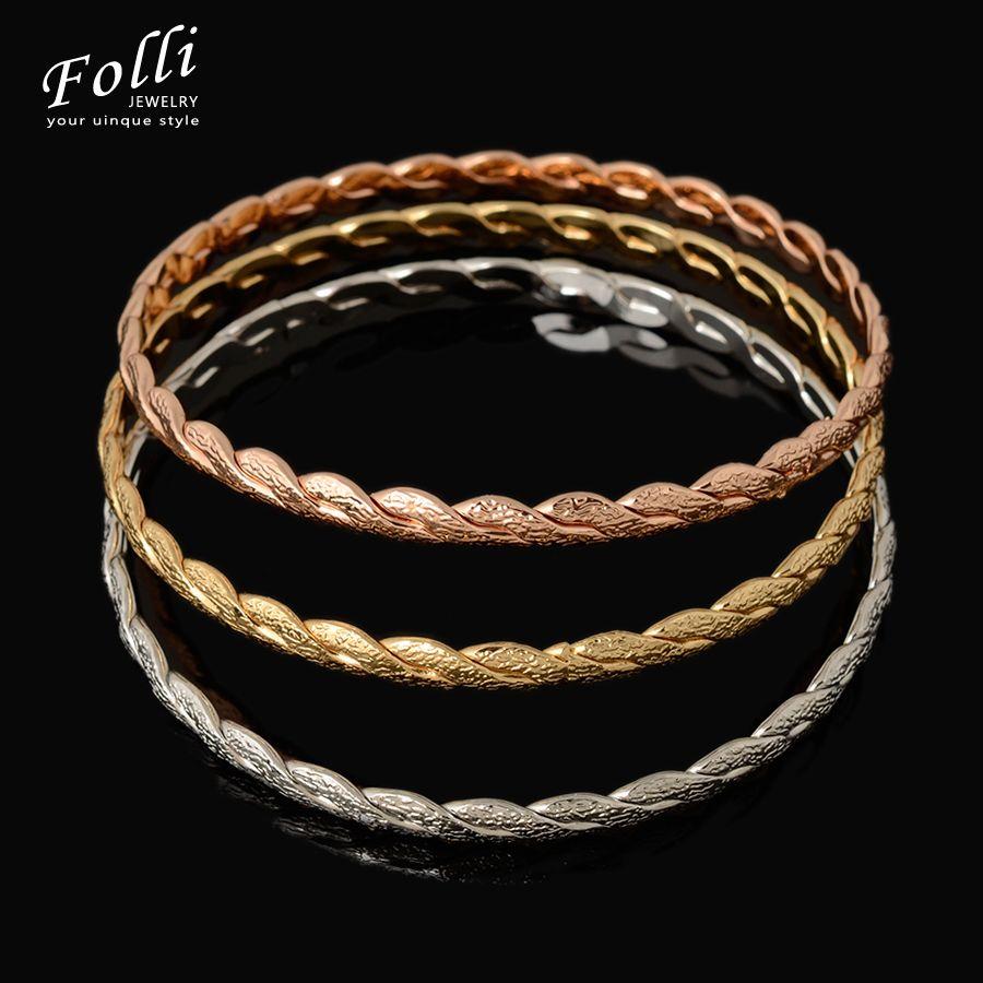 New fashion pieces love bangles set for women new h bracelet gold