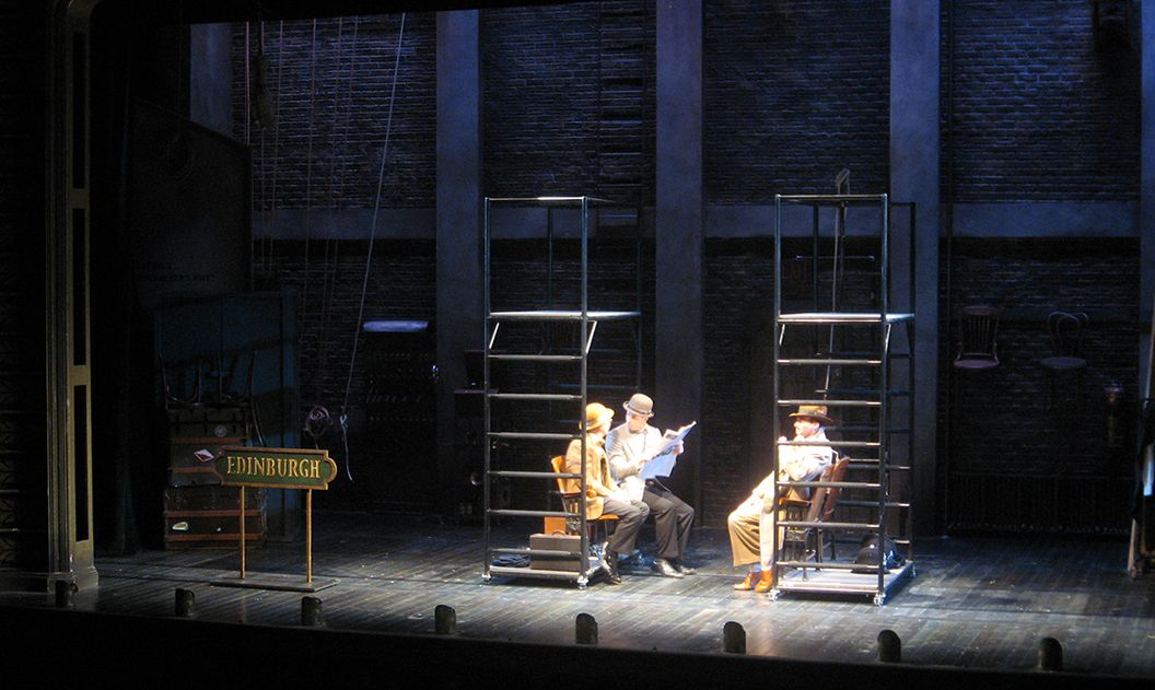 Alfred Hitchcock's The 39 Steps. Hartford Stage. Scenic design by David M. Barber. 2011