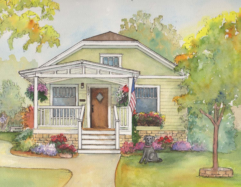 частный дом рисунок может похвастаться уникальным