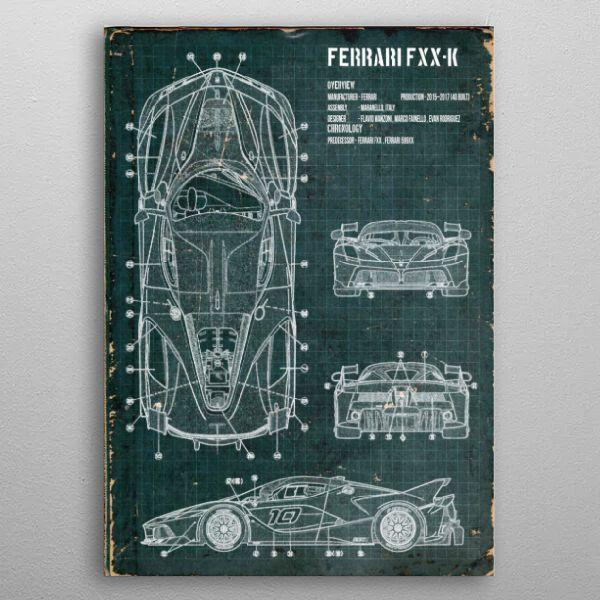Ferrari FXXK by FARKI15 DESIGN | metal posters - Displate | Displate thumbnail