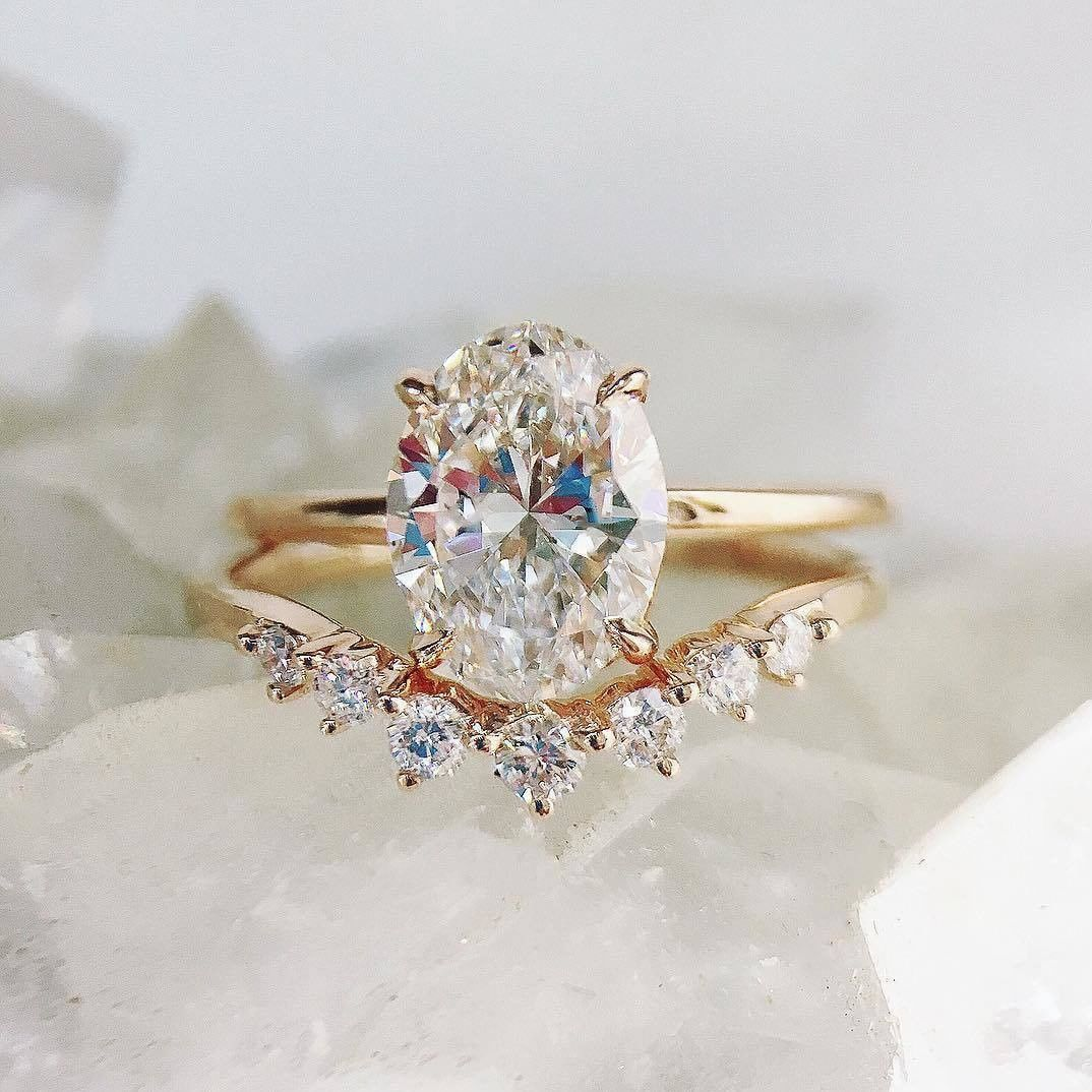12+ Wedding bands for oval solitaire info