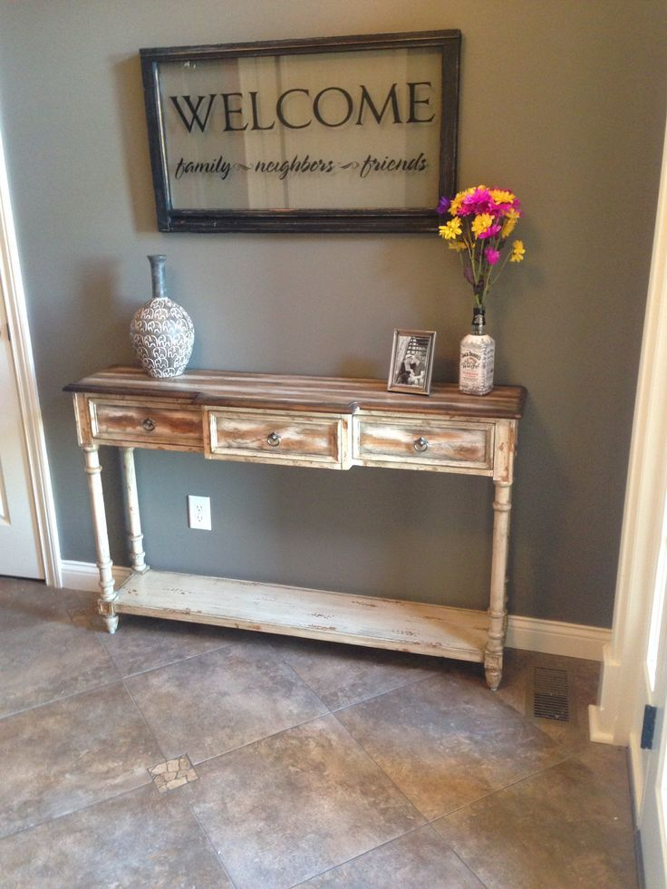 Rustic entryway decor google search home decor for Furniture for the foyer entrance