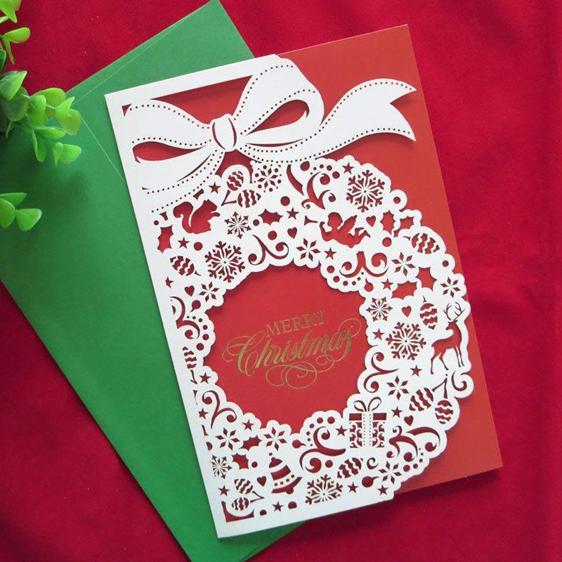 2016 new year 10 pcs creative handmade high quality merry christmas 2016 new year 10 pcs creative handmade high quality merry christmas cards cute gifts laser reheart Gallery