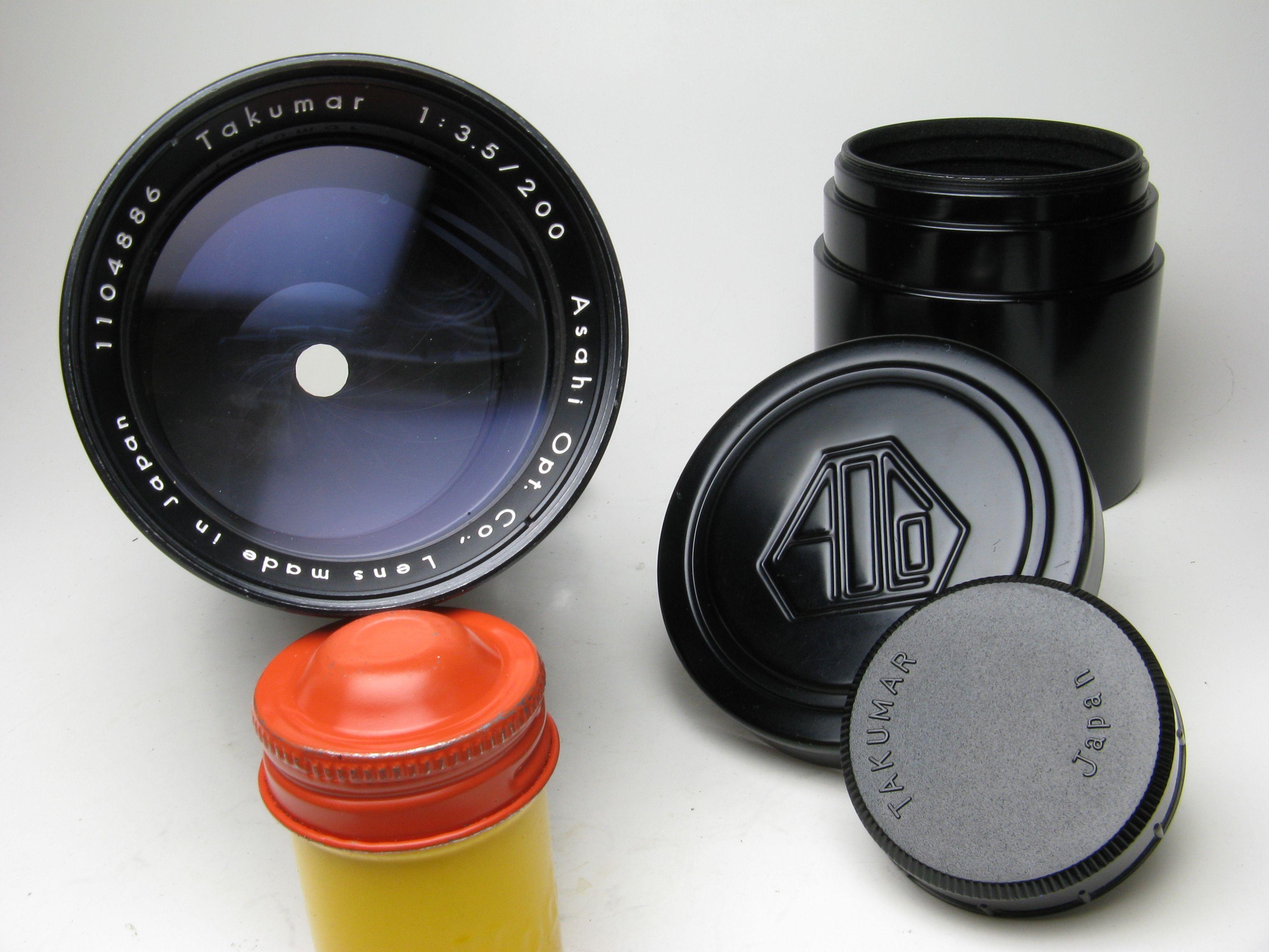 Asahi Pentax 200mm 3.5 m42 lens
